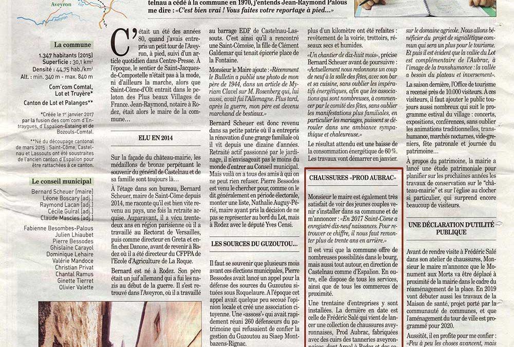 Prod'Aubrac dans le Bulletin d'Espalion